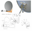 85 cm Ku-Band Offset Satellite Dish