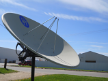 8' Polar Mount Prime Focus Satellite Dish